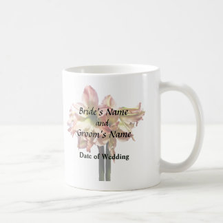 A Lovely Pink and White Amaryllis Wedding Products Coffee Mug