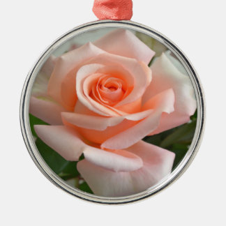 A Lovely Pink Rose Premium Round Ornament