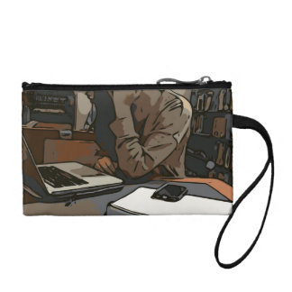 A Lovely Study Library Woman Change Purse