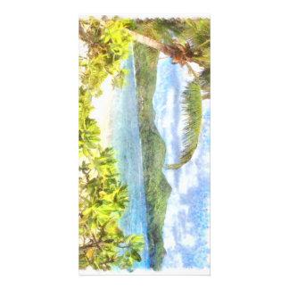 A lovely tropical paradise photo card