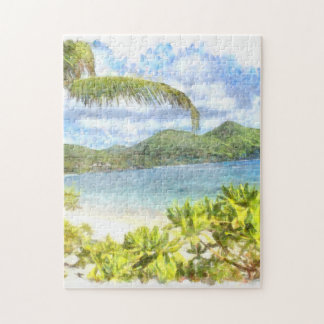 A lovely tropical paradise puzzle