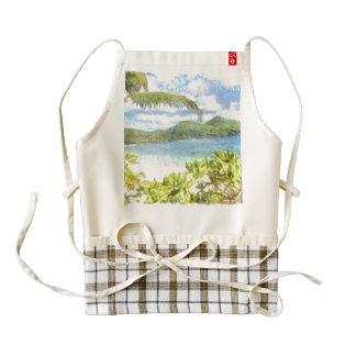 A lovely tropical paradise zazzle HEART apron