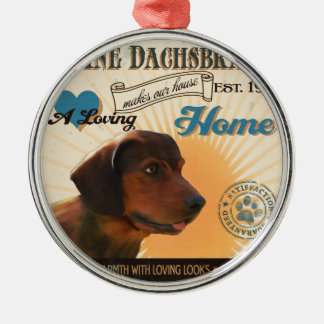 A Loving Affenpinscher Makes Our House Home Metal Ornament