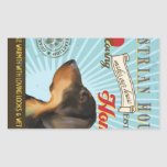 A Loving Austrian Hound Makes Our House Home Rectangular Sticker
