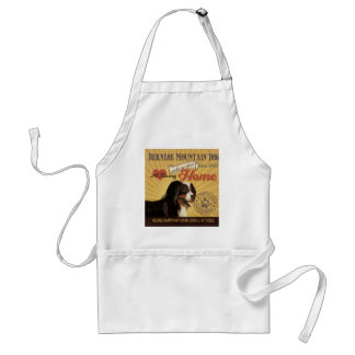 A Loving Bernese Mountain Dog Makes Our House Home Adult Apron