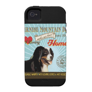 A Loving Bernese Mountain Dog Makes Our House Home Vibe iPhone 4 Cases