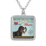 A Loving Bernese Mountain Dog Makes Our House Home Necklaces