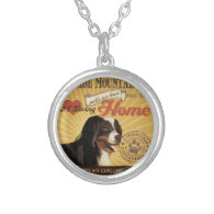 A Loving Bernese Mountain Dog Makes Our House Home Personalized Necklace