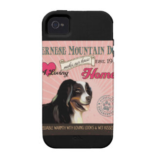 A Loving Bernese Mountain Makes Our House Home iPhone 4 Cases