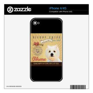 A Loving Bichon Frise Makes Our House Home iPhone 4S Skin