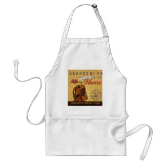 A Loving Bloodhound Makes Our House Home Adult Apron