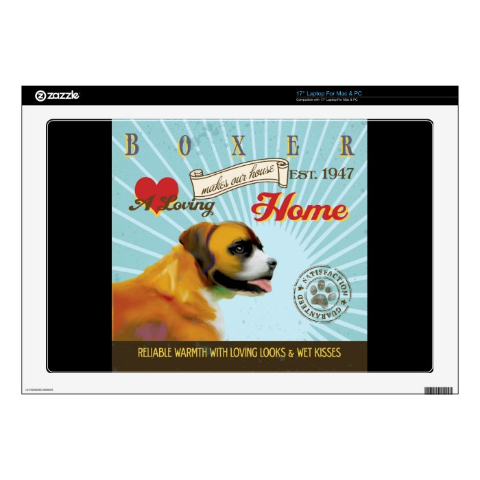 A Loving Boxer Makes Our House Home Decals For Laptops