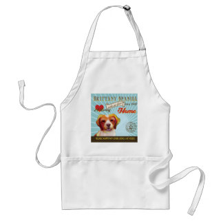 A Loving Brittany Spaniel Makes Our House Home Adult Apron