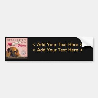 A Loving Bullmastiff Makes Our House Home Bumper Sticker