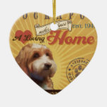 A Loving Cockapoo Makes Our House Home Double-Sided Heart Ceramic Christmas Ornament