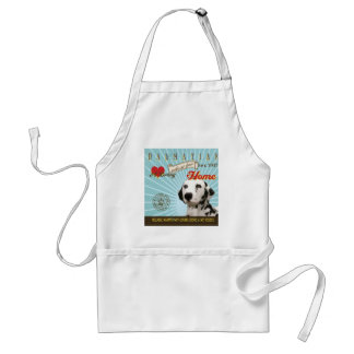 A Loving Dalmatian Makes Our House Home Adult Apron