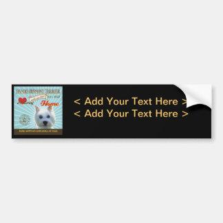 A Loving Dandie Dinmont Terrier Bumper Sticker
