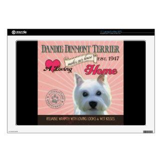 A Loving Dandie Dinmont Terrier Decals For Laptops