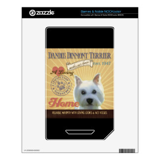 A Loving Dandie Dinmont Terrier Skin For NOOK Color