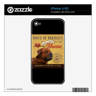 A Loving Dogue de Bordeaux Makes Our House Home Skin For The iPhone 4