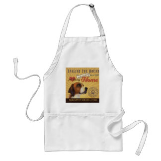 A Loving English Fox Hound Makes Our House Home Adult Apron