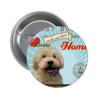 A Loving Golden Doodle Makes Our House Home Button