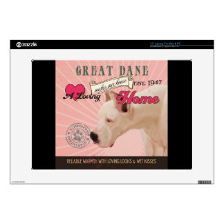 A Loving Great Dane Makes Our House Home Laptop Skins