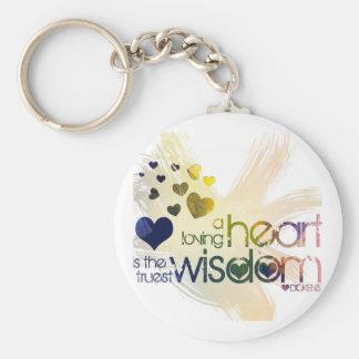 a loving heart is the truest wisdom keychain