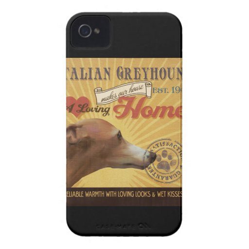 A Loving Italian Greyhound Makes Our House Home iPhone 4 Cases