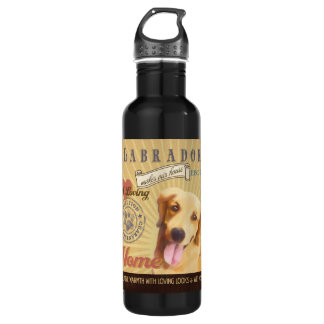 A Loving Labrador Makes Our House Home Stainless Steel Water Bottle