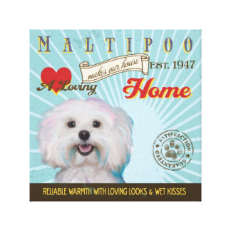 A Loving Maltipoo Makes Our House Home Gallery Wrap Canvas