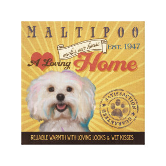 A Loving Maltipoo Makes Our House Home Gallery Wrapped Canvas