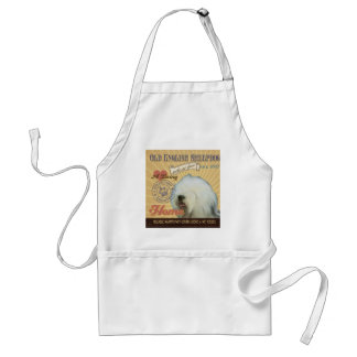 A Loving Old English Sheepdog Makes Our House Home Adult Apron
