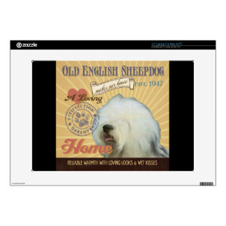 A Loving Old English Sheepdog Makes Our House Home Laptop Skins