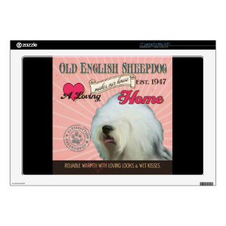 A Loving Old English Sheepdog Makes Our House Home Skin For Laptop