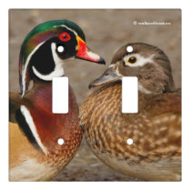 A Loving Pair of Wood Ducks Light Switch Cover