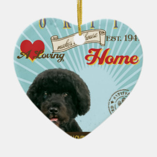 A Loving Portie Makes Our House Home Ceramic Ornament