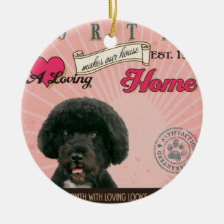A Loving Portie Makes Our House Home Double-Sided Ceramic Round Christmas Ornament