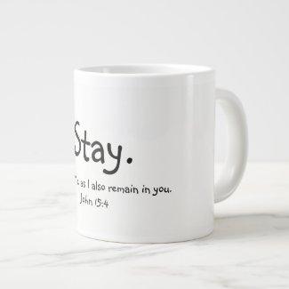 A loving reminder to enjoy Him... Large Coffee Mug
