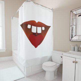 A loving smile of a Mouth 007 Shower Curtain