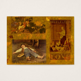 A Loving Thanksgiving Gift Tag Business Card