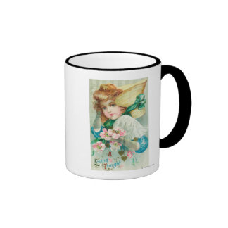 A Loving Thought Maiden with Bonnet Mugs