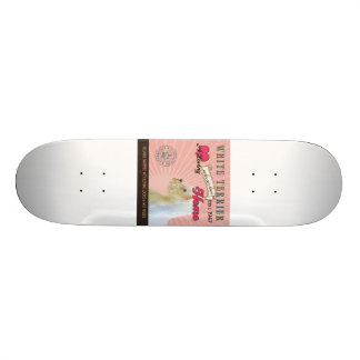 A Loving White Terrier Makes Our House Home Skateboard Deck