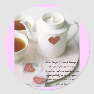 A Loyal Friend Tea Sticker