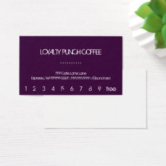 A Loyalty Coffee Punch-Card Business Card