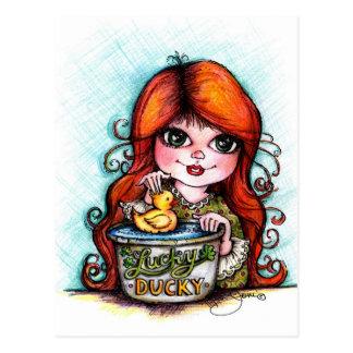 A Lucky Ducky! Postcards