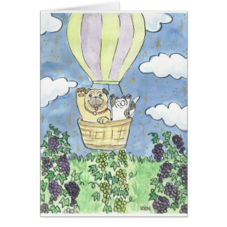 A Lucky Flight Over the Vineyard Card