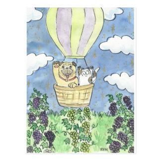 A Lucky Flight Over the Vineyard Postcard