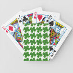A Lucky Green Shamrock Bicycle Playing Cards