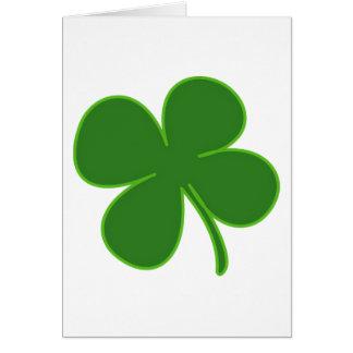 A Lucky Green Shamrock Cards